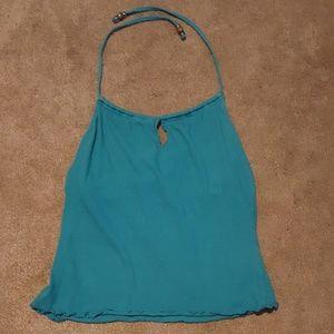 Turquoise keyhole halter